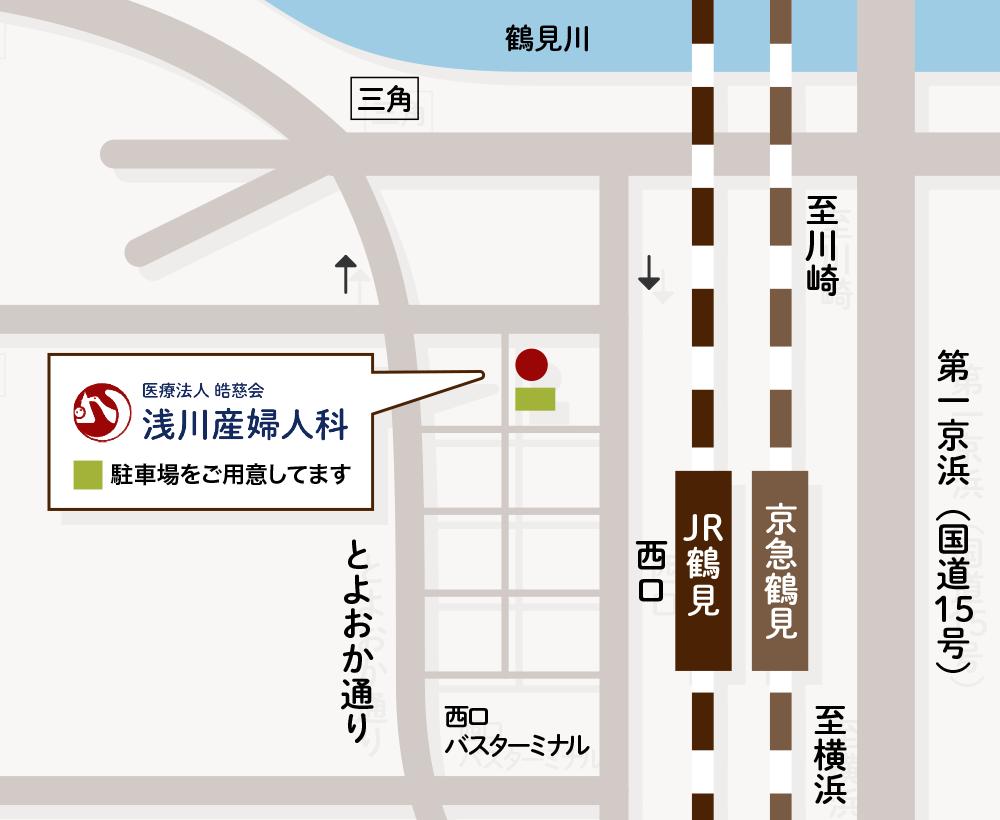 浅川産婦人科のマップ